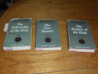 Lord of the Rings JRR TOLKIEN 2nd Editions 1st impression 3rd & 4th Hardback DJ