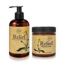 Relief Bundle Arnica Cream & Massage Oil - All Natural - Eucalyptus & Lemongrass