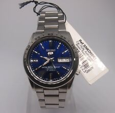 SEIKO 5 SNKD99K1 Stainless Steel Band Automatic Men's Blue Watch SNKD99 NIB