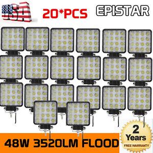20X 48W 12V 24V LED Work Light Flood Light fits OffRoad SUV For Boat Jeep Truck