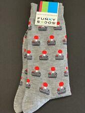 Funky Socks Atari Controller Gaming Men's Dress Casual Novelty Crew Socks