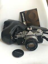 OLYMPUS OM1n MD SLR 35mm Film CAMERA+ZUIKO 50mm f1.8 LENS+FLASH SHOE 4+CASE #2