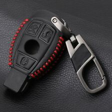 Mercedes Benz Leather Car Key Case Cover for W203 W210 W211 AMG W204 C200 C250 C