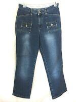 Hydraulic Jeans Size 9 10 dark wash womens 32 x 31 blue long