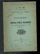 GO Inauguration du Nouveau Temple Maçonnique Amis de Sully Orient de Brest 1868