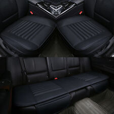 Full Surrounded 4 Seasons PU Leather Bamboo Charcoal Car Seat Cover Pad Mat 3PC