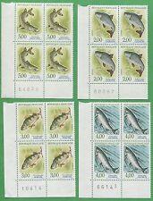 10 Sets of 1991 France Stamps 2227 - 2230 Cat Value $65 Native Fish
