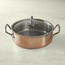 Ruffoni Omegna Cupra Hammered Copper Covered 5 Qt Braiser - NEW in Box
