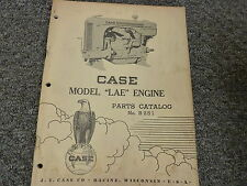 Case Model LAE Stationary Engine Power Unit Parts Catalog Manual Book B251