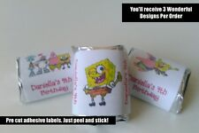30 SPONGE BOB SQUARE PANTS BIRTHDAY PARTY FAVORS HERSHEY NUGGET LABELS SPONGEBOB