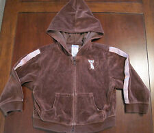 Gymboree Girl Teachers Pet Brown Siamese Kitty Cat Velour Hoodie Jacket 2T EUC