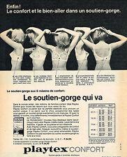 PUBLICITE ADVERTISING  1965   PLAYTEX  soutien gorge  bretelles élastiques
