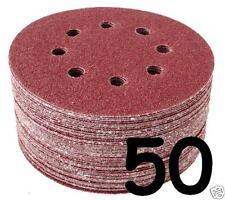 "50 - 125mm - 5"" Discos de lija de velcro 40 60 80 120 240 Grit Almohadillas Lijadora Orbital"