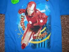 New Youth Boys Ironman T Shirt tshirt Glow in the Dark Blue 8