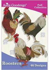 Anita Goodesign Roosters Embroidery Machine Designs CD