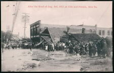 ERIE PA 13th & French After 1915 Flood Vtg B&W Postcard
