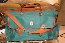 Vintage Green Canvas Ralph Lauren Polo Classic Large Duffle Bag Travel Luggage