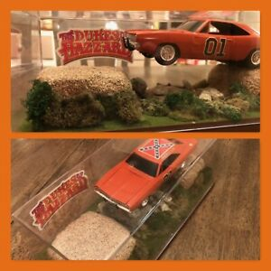 DUKES OF HAZZARD * GENERAL LEE * 1:25 Scale Diorama * Fan Made early 2000s * A+
