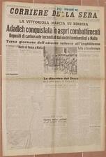 CORRIERE DELLA SERA 14 AGOSTO 1940 ADADLEH MALTA DUFF COOPER TRANSILVANIA G.I.L.