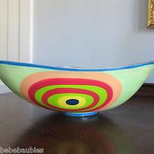 "Decorative Modern Midcentury Bowl Metal Aluminum w/ Enamel India 12x12x4"" New"
