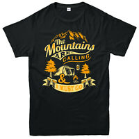 The Mountains Are Calling And I must Go T-Shirt, Camping Hiking Funny Gift Top