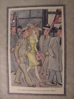 1944 Original Esquire Art WWII Era Large Collection of Esquire CARTOONS!