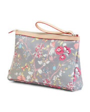 9b586c9438 CAVALCANTI Multi Color Floral Leather Clutch Pouch Wristlet Made In Italy  NWT