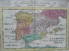 SPANIEN ESPAÑA BALEAREN IBIZA PORTUGAL KUPFERSTICH KARTE ERSTAUSGABE KILIAN 1758
