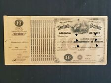 Us 1879 $10 Internal Revenue Special Tax Tobacco Dealer Stamp Sheet