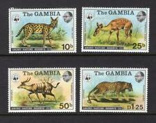Gambia 1976 Complete Animal Set - OG MLH - SC# 341-344   Cats $50.50
