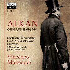 Vincenzo Maltempo-Genius-ENIGMA 3 CD NUOVO Alkan, Charles Valentin