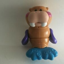 Walrus Wild Animal Figure Solid Plastic Toy Jointed Turning Head and Arms 5""