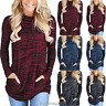 Women's Long Sleeve Hoodie Sweatshirt Sweater Hooded Jumper Coat Pullover Tops