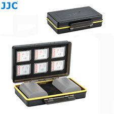 JJC 2 Camera Battery + 6 SD Memory Cards Case Box Holder for Canon LP-E6 LP-E6N