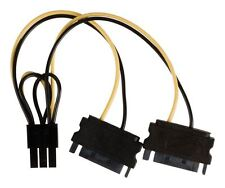 Glaxio Internal power splitter cable PCI Express female - 2x SATA 15-pin male