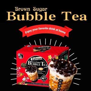 J-Way Brown Sugar Boba Tapioca Bubble Milk Tea Instant Packets 6 Sets/Box