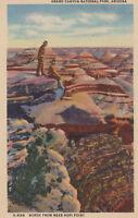 Linen Postcard A631 Arizona North from Near Hopi Point Grand Canyon Az Harvey