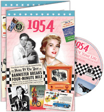 24024 1954 DVD CARD DVDCARD BIRTHDAY GREETING VISUAL HISTORY OF A SPECIAL YEAR