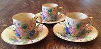 Art Deco Susie Cooper/ Grays Pottery - 3 Cups & Saucers- 8069