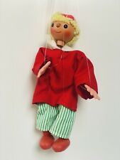 Alte Marionette Junge Kasperle  Holzkopf und Kunststoff ~ Original Karton ~ 26cm