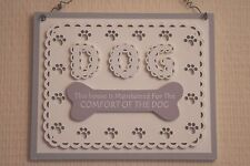 Plaque This House Maintained For Comfort Of The Dog Lovers Grey Sign 22cm F1715