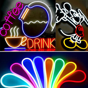 12V 2835 SMD Flexible LED Strip Waterproof Sign Neon Lights Silicone Tube Party