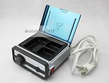 220V Dental Lab Equipment 3-Well Analog Wax Heater Melting/Heating Dipping Pot