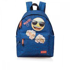 EMOJI Smiley Backpack Travel Shoulder Bag Emoticon Girls Boys Rucksack Love Hate