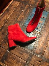 Whistles Red Suede Boots 41 / 8 RRP £160