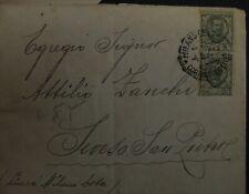 "Italia 1929- Storia postale- Coppia 25 cent 1901 ""floreale""-"