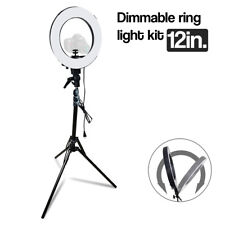 12 Inch Photography Studio Dimmable Selfie Ring Light with Stand & Adapter