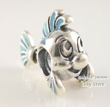 Disney LITTLE MERMAID FLOUNDER Authentic PANDORA Blue FISH Charm 798230ENMX NEW