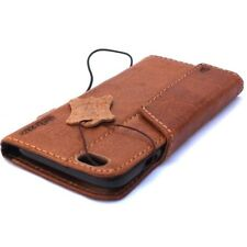 genuine vintage leather Case for apple iphone 6 plus book wallet cover magnet 6s