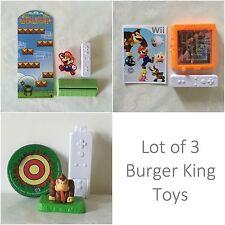 METROID Maze - Super Paper MARIO - DONKEY KONG Wii Burger King Toys NINTENDO Lot